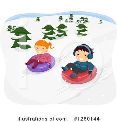 Snow Tubing Clipart #1260144 by BNP Design Studio