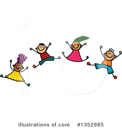 Stick Children Clipart #1352885 by Prawny