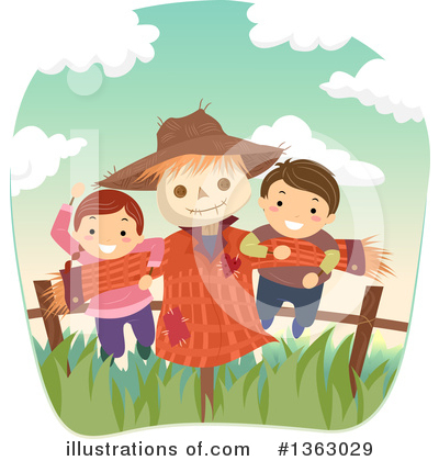 Scarecrow Clipart #1363029 by BNP Design Studio