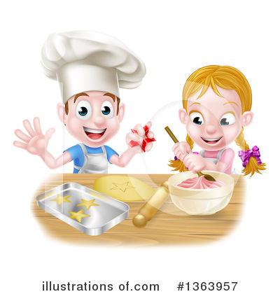 Chef Clipart #1363957 by AtStockIllustration