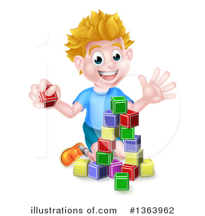 Playing Clipart #1363962 by AtStockIllustration