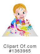Children Clipart #1363965 by AtStockIllustration