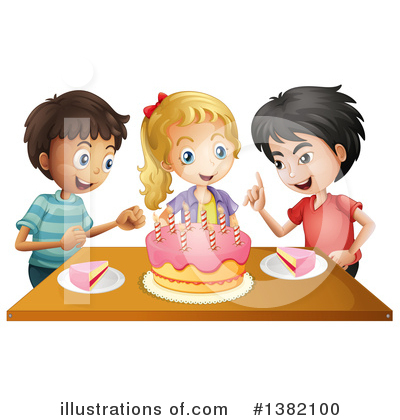 Birthday Cake Clipart #1382100 by Graphics RF