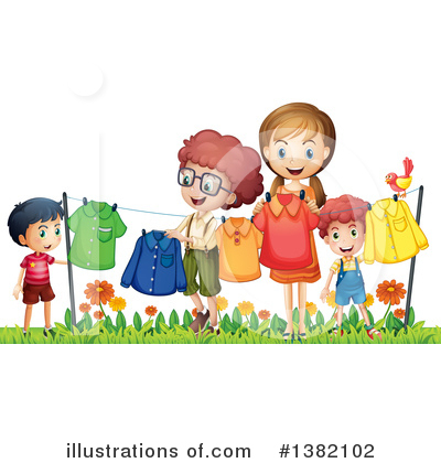 Royalty-Free (RF) Children Clipart Illustration by Graphics RF - Stock Sample #1382102