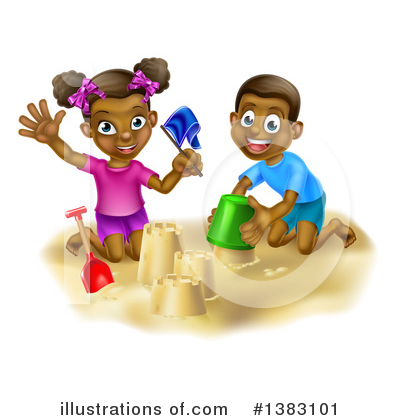 Sand Castle Clipart #1383101 by AtStockIllustration