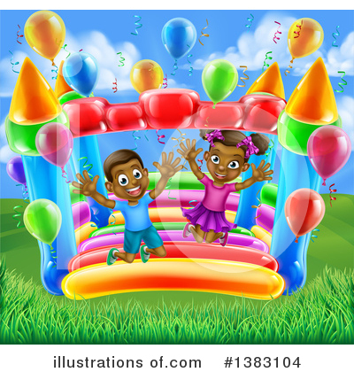 Party Balloons Clipart #1383104 by AtStockIllustration