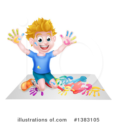 Playing Clipart #1383105 by AtStockIllustration