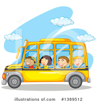 School Bus Clipart #1389512 by Graphics RF