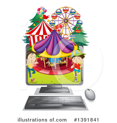 Carousel Clipart #1391841 by Graphics RF