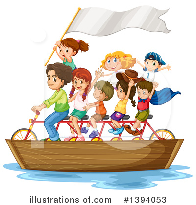 Tandem Bicycle Clipart #1394053 by Graphics RF