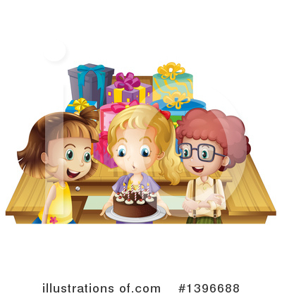 Birthday Cake Clipart #1396688 by Graphics RF