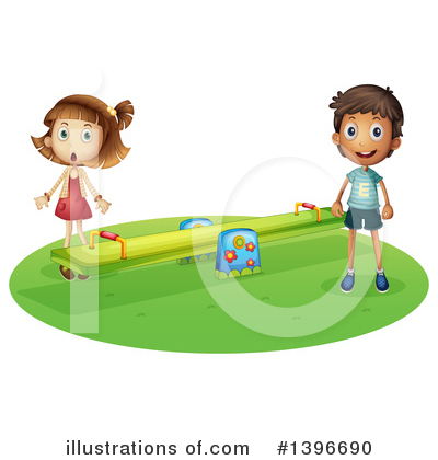 Teeter Totter Clipart #1396690 by Graphics RF