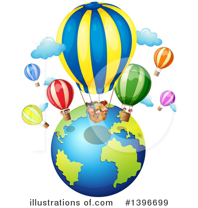Hot Air Balloon Clipart #1396699 by Graphics RF