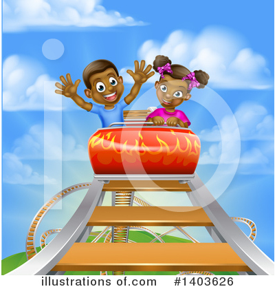 Roller Coaster Clipart #1403626 by AtStockIllustration