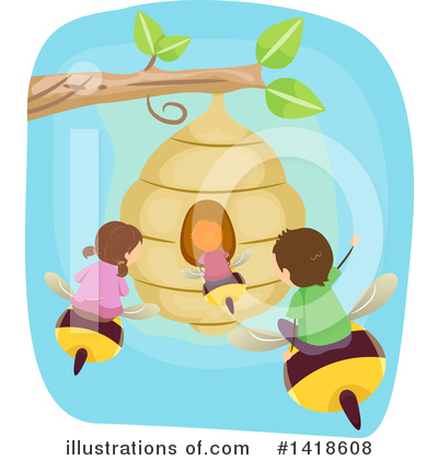 Bee Clipart #1418608 by BNP Design Studio