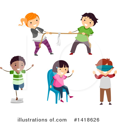 Tug Of War Clipart #1418626 by BNP Design Studio