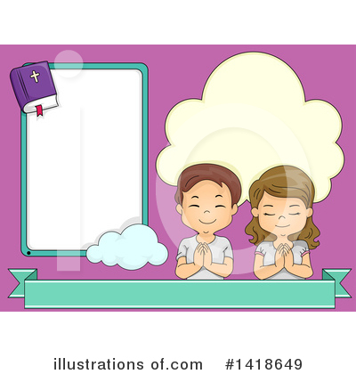 Praying Clipart #1418649 by BNP Design Studio