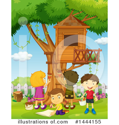 Tree House Clipart #1444155 by Graphics RF