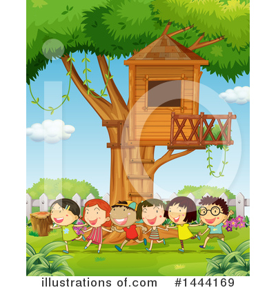 Tree House Clipart #1444169 by Graphics RF