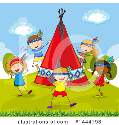 Royalty-Free (RF) Children Clipart Illustration by Graphics RF - Stock Sample #1444198