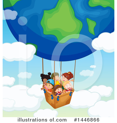 Hot Air Balloon Clipart #1446866 by Graphics RF
