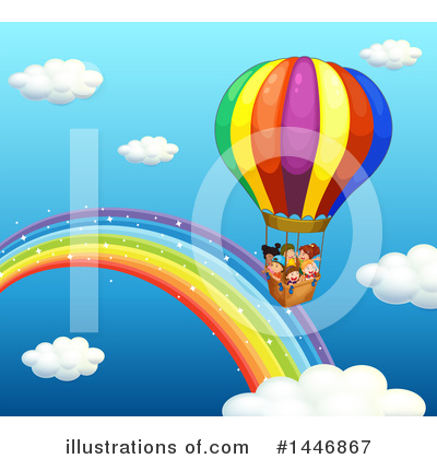 Hot Air Balloon Clipart #1446867 by Graphics RF