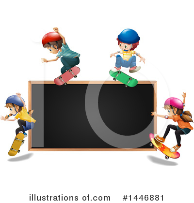 Skateboarding Clipart #1446881 by Graphics RF