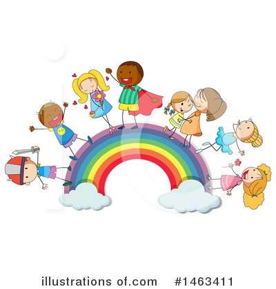 Rainbow Clipart #1463411 by Graphics RF