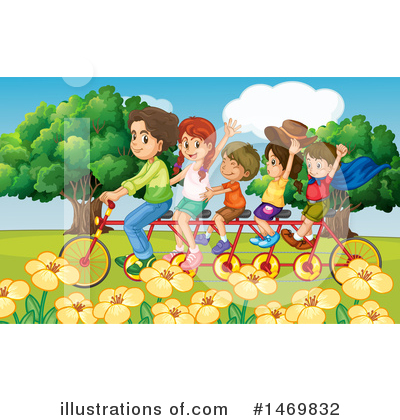 Tandem Bicycle Clipart #1469832 by Graphics RF