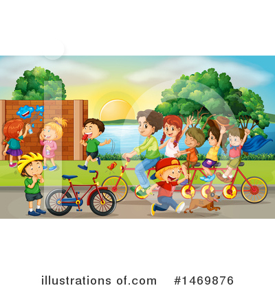 Tandem Bike Clipart #1469876 by Graphics RF