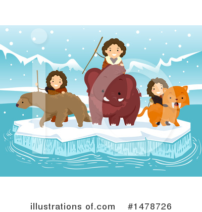 Woolly Mammoth Clipart #1478726 by BNP Design Studio