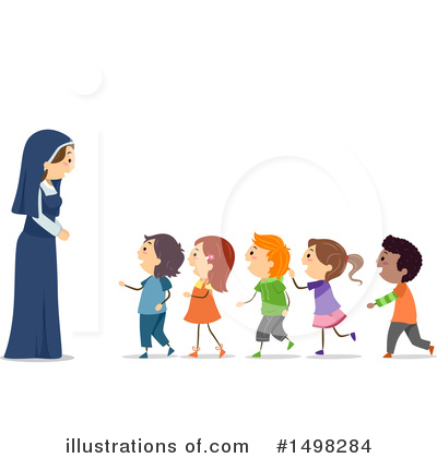 Nun Clipart #1498284 by BNP Design Studio