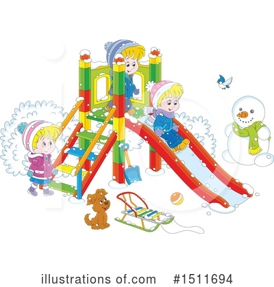Playground Clipart #1511694 by Alex Bannykh