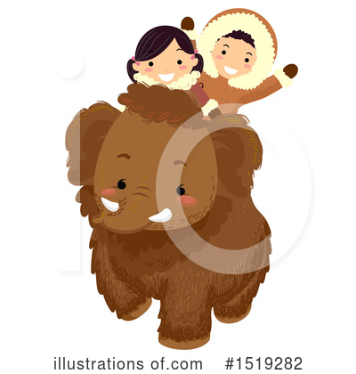 Woolly Mammoth Clipart #1519282 by BNP Design Studio