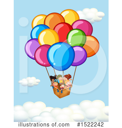 Hot Air Balloon Clipart #1522242 by Graphics RF