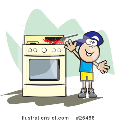 Stove Clipart #26488 by David Rey