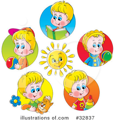 Royalty-Free (RF) Children Clipart Illustration by Alex Bannykh - Stock Sample #32837