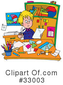 Royalty-Free (RF) children Clipart Illustration #33003