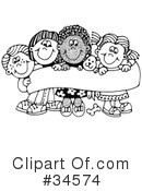 Royalty-Free (RF) Children Clipart Illustration #34574
