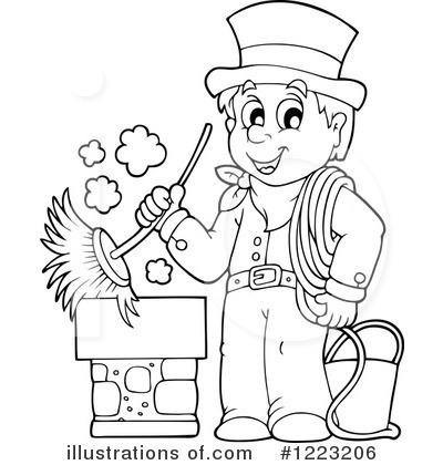 Chimney Sweep Clipart 1223206 Illustration By Visekart