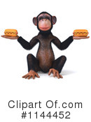 Royalty-Free (RF) Chimp Clipart Illustration #1144452