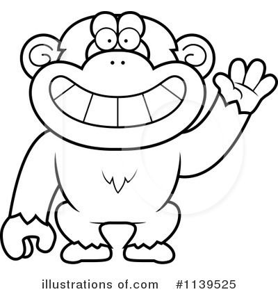 Royalty free rf chimpanzee clipart illustration 1139525 by cory