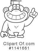 Royalty-Free (RF) Chimpanzee Clipart Illustration #1141661