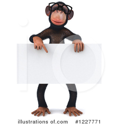 Chimpanzee Clipart #1227771 by Julos