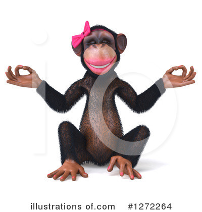 Female Chimp Clipart #1272264 by Julos