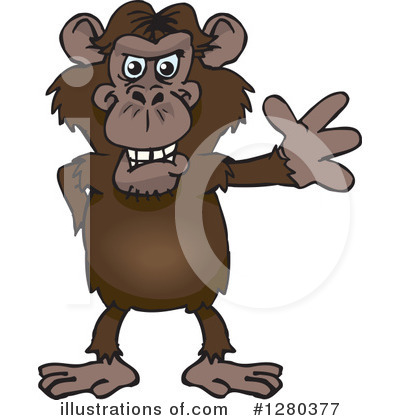 Monkey Clipart #1280377 by Dennis Holmes Designs