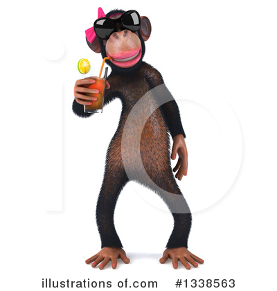Female Chimp Clipart #1338563 by Julos