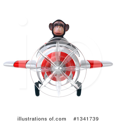 Chimpanzee Clipart #1341739 by Julos