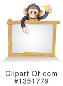 Chimpanzee Clipart #1351779 by AtStockIllustration