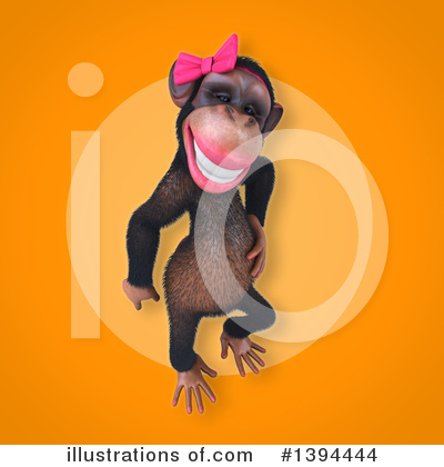 Female Chimp Clipart #1394444 by Julos